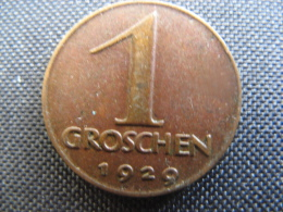 Coin Republic Of Austria 1 Groschen 1929 - Austria