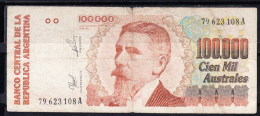 ARGENTINA 1990. 100.000 AUSTRALES  MBC    B 469 - Argentina