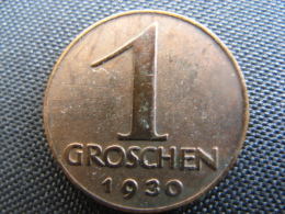 Coin Republic Of Austria 1 Groschen 1930 - Oostenrijk