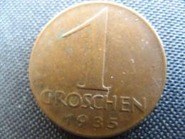 Coin Republic Of Austria 1 Groschen 1935 - Oostenrijk