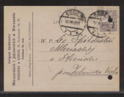 POLAND 1920 MILK EGG PRODUCER PRIVATE POSTCARD SINGLE FRANKING  ZYGMUNT COLUMN USED - 1919-1939 Republic