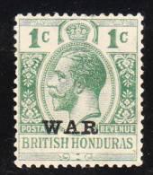 British Honduras 1916-17 War Tax Stamps  1c Mint - British Honduras (...-1970)
