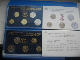 +Serbia , Official Mint Set Of The National Bank Of Serbia Coin Set  2010. - Serbia