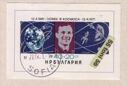 Bulgaria / Bulgarie 1971 SPACE - Gagarin S/S- Used/oblitere (O) - Gebraucht