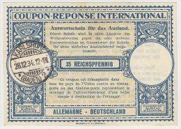 Coupon Réponse International Allemagne 35 Reichspfennig - Sin Clasificación