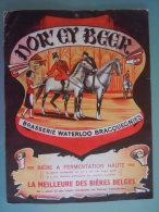Oude Anciene Affiche Bier Bière Belges DOR'CY BEER Brasserie Waterloo Bracquegnies Karton Carton Cardbord 24 X 31,5 Cm - Affiches