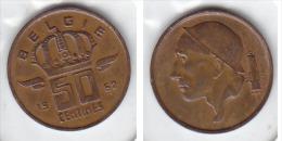 50 CENTIMES Bronze Baudouin 1962 FL - 03. 50 Centimes