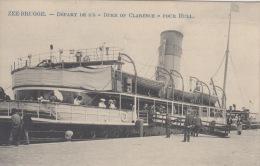 Zeebrugge    Départ De S/s   Duke Of Clarence Pour Hull      Boot Schip        Scan 5546 - Zeebrugge