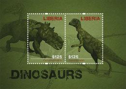 LIBERIA  2813  MINT N.H ; IGPC 1212 SS  ( DINOSAURS - Liberia