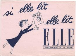 "Buvard/ Presse/ Journal ""ELLE""/ Hebdomadaire Féminin/Vers 1945-1955    BUV46 - Buvards, Protège-cahiers Illustrés"