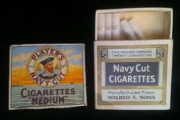 1930s PACKET PLAYERS NAVY CUT - WALKERS NAVY CUT ADVERTISING PACKET -SCARCE - Etuis à Cigarettes Vides