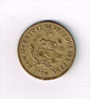 Peru Un Sol De Oro 1976 - Pérou