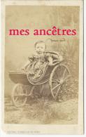 CDV Identifiée En 1868-landau Poussette à 3 Roues-Jeanne Métier Née à Saint Maurice-photo Chesnel Glenisson Charenton - Anciennes (Av. 1900)