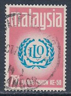 Malaysia ~ 50th Anniv. Of ILO ~ SG 73 ~ 1970 ~ Used - Malaysia (1964-...)