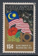 Malaysia ~ 10th Anniversary Of Malaysia ~ SG 106 ~ 1973 ~ Used - Malesia (1964-...)