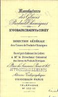 PRODUITS CHIMIQUES SAINT GOBAIN CHAUNY ET CIREY PARIS 1909 A VAIRET BAUDOT AFFRETEMENT PENICHE V. SCANS ET HISTORIQUE - Frankrijk