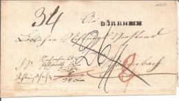 Bad037/  BADEN - Dürrheim, Einzeiler In Schwarz 1850 - Baden