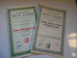 RENE TALON (lormont-gironde) - Aandelen
