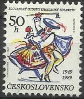CSR 1989-3012 COSTUME, CZECHOSLOVAKAI, 1 X 1v, MNH - Kostüme