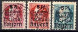 Bayern Mi 171-173 A, Gestempelt [081213III] @ - Bavière