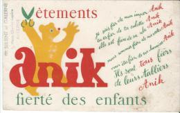 Vêtements/ ANIK/Sirgent Et Galerne/ AUXERRE /Vers 1945-1955    BUV57 - Textilos & Vestidos