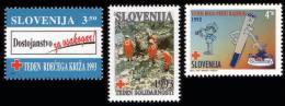 Slovenia 1993 - Red Cross -  MNH Michel Z4-Z6 (value 1 EUR) - Slovenia