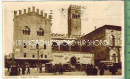 Bologna-Palazzo Re Enzo Verlag:Fratelli Marco, Milano, Postkarte Mit Frankatur, Mit Stempel, BOLOGNA 17. 8. 1927 Erhal - Bologna