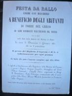 VESUVIO-COMO 1862 Invito Ballo In Maschera A Beneficio Degli Abitanti Di Torre Del Greco (eruzione 1861) RRR - Vecchi Documenti