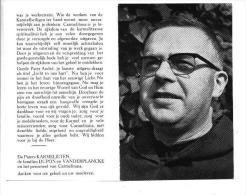Doodsprentje Pater Andre (Ignatius) Dupon Karmeliet  Brugge 1925- Gent 1977 Priester Leuven - Missionaris Ceylon (foto) - Devotion Images