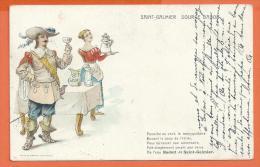 FEL676, Source Badoit , Saint-Galmier, Mousquetaire Buvant Le Coup De L'étrier ,Circulée 1918 - Advertising
