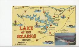 BT19426 Lake Of The Ozarks Map Cartes Geographiques     2 Scans - Etats-Unis