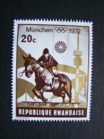 THEME SPORT JEUX OLYMPIQUES MUNICH 1972 RWANDA REPUBLIQUE RWANDAISE SPORT EQUESTRE CHEVAL - Summer 1972: Munich