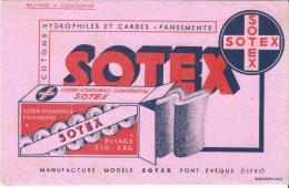 Pharmacie/ SOTEX/ Cotons Hydrophiles/ PONT-EVEQUE/ Isére/Vers 1945-1955    BUV58 - Produits Pharmaceutiques