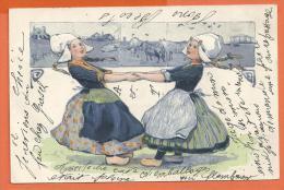 FEL685, Danse, Vaches , Pâturage, Sabots, 3939, Précurseur, Circulée 1904 - Phantasie