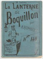 @ LA LANTERNE  DE BOQUILLON PAR A. HUMBERT N°140  15 AOUT 1875 HUMOUR CARICATURES PATOIS - Reklame