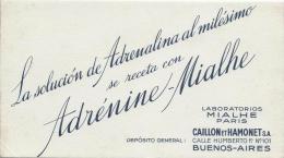 Pharmacie/ Adrénine-Mialhe/ Caillon Et Hamonet SA/ BUENOS-AIRES/Argentine/Ve Rs 1945-1955    BUV59 - Produits Pharmaceutiques