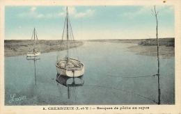 35 CHERRUEIX Barques De Pêche Au Repos CPSM PF  Dentelée Ed. Artistique Photo Granville - Francia