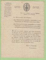 Décision Du DIRECTOIRE Sur Les Exemptions De SERVICE MILITAIRE. Lettre Du 1er Brumaire An 7. Voir Dos.Lire Descriptif - Documents Historiques