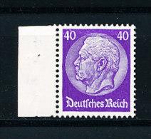 Deutsches Reich  Michel Nr. 472  Linkes Randstück  Hindenburg 40 (Pf.) Wasserzeichen Waffeln  Geprüft Dr. Oechsner  ++ - Unused Stamps