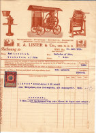 R.A.Lister & Co., Ges.m.b.H., WIEN III. - Milchzentrifugen ,automatische Elektr. Lichtanlagen - Autriche