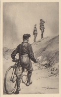 C-1123- Fascismo ONB Illustratore Vittorio Pisani - L'avanguardista Ciclista - F.p. Non Vg. - Illustratori & Fotografie