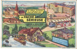 Crême De Gruyére/ La VACHE SERIEUSE/ Vers 1945-1955    BUV63 - Produits Laitiers