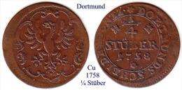 DL-1758, 1/4 Stüber, Dortmund - [ 1] …-1871 : German States