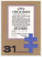 "MILITARIA  L 29    ""  LE GENERAL DE GAULLE ""   CPM / CPSM  10 X 15 - Personaggi"