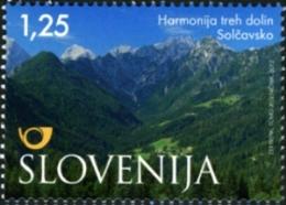 Slovenia Slovenie Slowenien 2012: Tourism Nature Landscape Alps Alpen - Solcavsko - Three Walleys In Harmony - MNH ** - Slovénie