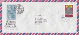 St. Vincent Cover To USA Scott #1080 65c East Caribbean Currency - St.Vincent (1979-...)