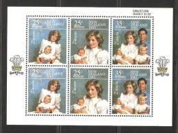 New Zealand 1985 Health Charity Miniature Sheet Diana & Charles  MNH - New Zealand