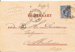 1893 Briefkaart Met PZ35 Van Kerkrade Naar Malines(Belgie) Met Afzender In Relief (linker Bovenhoek) Zie Scan - Brieven En Documenten