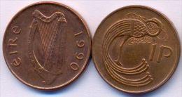 Ireland 1 Penny 1990 XF++ - Ireland