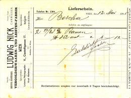 """""""Ludwig Nick """" Vergolderwaaren Und Leistenfabrik, Wien V. - Austria"""